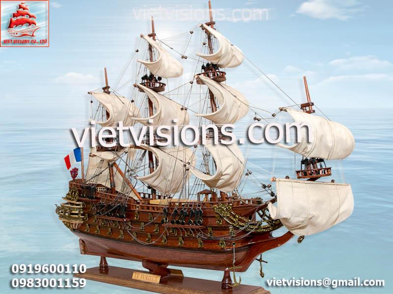 Mô Hình Tàu Chiến Gỗ Mỹ Nghệ